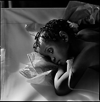 Luanda, Angola, May 19, 2006.Cristina, 2, is a patient at the Boa Vista MSF Belgium operated cholera field clinic. Between February and June 2006, more than 30000 people were infected with cholera in Angola's worse outbreak ever; more than 1300 died.