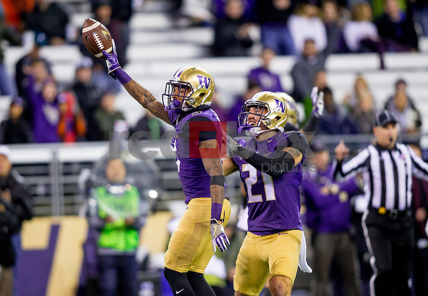 The University of Washington football team plays Arizona State University in Seattle on November 19, 2016(Photography by Scott Eklund/Red Box Pictures)
