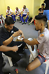 Gianni Subba, Malaysian MMA hero getting hands bandaged before fighting<br />
