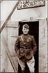 WWI ace Capt. Eddie Rickenbacker with DSC at Remicourt, Meuse, France Nov. 10, 1918..