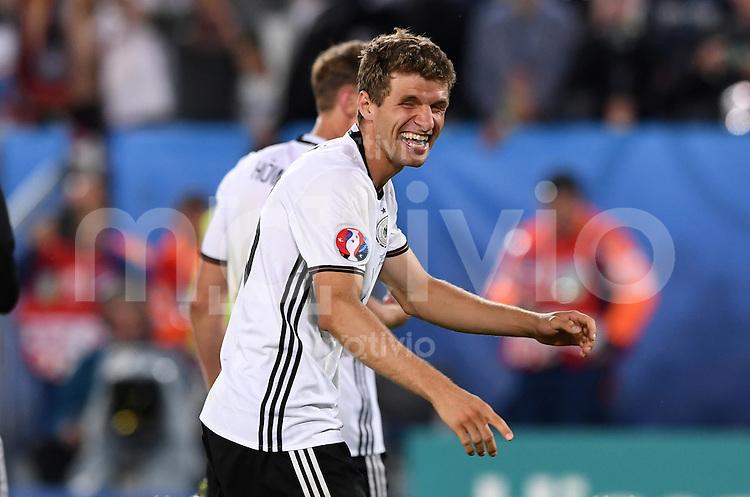 FUSSBALL EURO 2016 VIERTELFINALE IN BORDEAUX Deutschland - Italien      02.07.2016 Jubel: Thomas Mueller