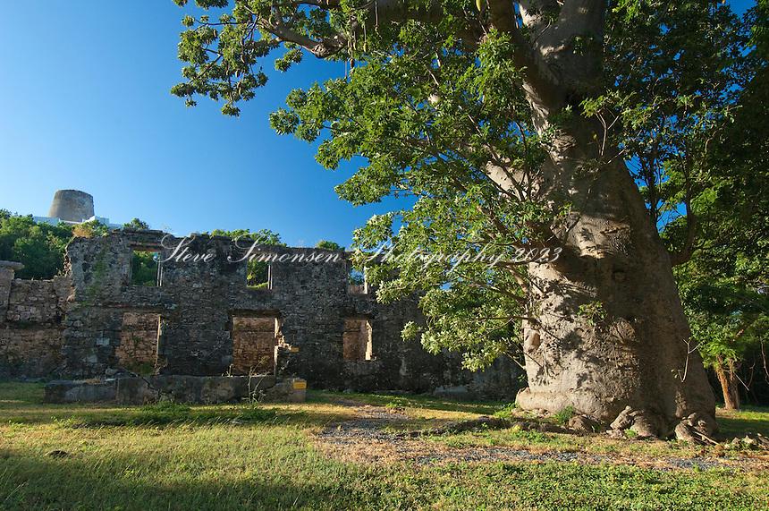 Ruins at Butler Bay St Croix USVI.