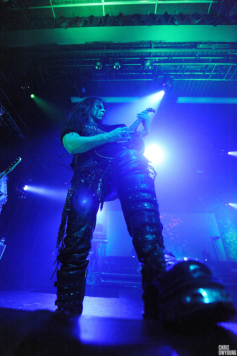 Cradle of Filth performs at Nokia Theater in Times Square, NYC. February, 27 2009.