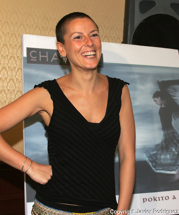 """Spanish singer Maria del Mar Rodriguez, best known La Mari, poses for a photograph during a press conference in a Mexico City hotel, March 30, 2006. Rodriguez and his band Chambao are presenting their new music CD """"Pokito a Poko"""" (Little by little). Photo by Javier Rodriguez"""