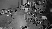 Anna Scher Children's Theatre, East End of London 1972.  Kids would come after school and be expected to work hard.  Here, they're doing some filming for the BBC.  Some went on to have careers in the industry and a few became household names: Pauline Quirk, Phil Daniels.  The BBC cameraman here is Phil Meheux who went on to become an A-list Hollywood cinematographer (Bond films etc.).