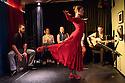 """Edinburgh, UK. 02.08.2016. Alba Flamenca presents the self-titled show, """"Alba Flamenca"""", as part of the Edinburgh Festival Fringe.  Picture shows: Gabriela Pouso (front), Pedro Morote, Maria del Mar Suarez, Inma Montero, Danielo Olivera, Daniel Martinez. Photograph © Jane Hobson."""