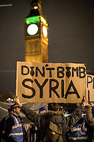 "01.12.2015 - ""Don't Bomb Syria"" - Emergency Protest in Parliament Square"