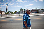 Developer Bernie Carter walks through Reno, Nevada's Midtown district, July 6, 2012. Bernie Carter is also running for a seat on Reno's city council.