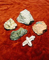 COMPONENT MINERALS OF GRANITE<br /> (Variations Available)<br /> Granite Is A Coarse Grained Igneous Rock<br /> Clockwise from top: granite, feldspar, quartz, horneblend, mica