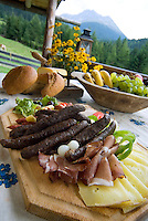 Tiroler Oberland, Austria, August 2009. Family happiness and traditional life on the alms of Tiroler Oberland. The alpine pastures with their picturesque little huts offer a great day out. Photo by Frits Meyst/Adventure4ever.com