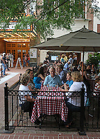 Dining and walking on the downtown mall located in Charlottesville, VA.