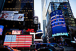 General view of Nasdaq building at Times Square before the Nasdaq Management discusses Q4 2011 results programed for next Wednesday in New York, United States. 31/01/2012.  Photo by Eduardo Munoz Alvarez / VIEWpress.