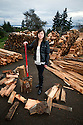 PE00128-00...WASHINGTON - Ruth Spring splitting wood. (MR #S12)