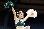 25 March 2014: MSU cheerleader. The University of North Carolina Tar Heels played the Michigan State University Spartans in an NCAA Division I Women's Basketball Tournament First Round game at Cameron Indoor Stadium in Durham, North Carolina. UNC won the game 62-53.