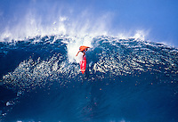 Luke Egan (AUS) surfing at Pipeline during the 1991 Pipeline Masters on Oahu's North Shore, Hawaii. Photo: joliphotos.com