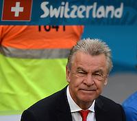 FUSSBALL WM 2014  VORRUNDE    Gruppe D     Schweiz - Ecuador                      15.06.2014 Trainer Ottmar Hitzfeld (Schweiz)