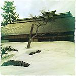 Photo shows an old farmhouse in Aizuwakamatsu City, Fukushima Prefecture, Japan.  Photographer: Rob Gilhooly