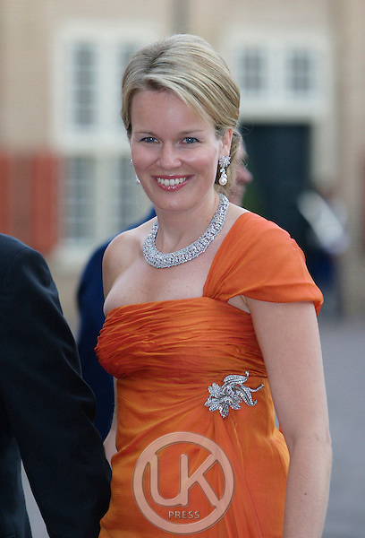 Crown Princess Mathilde of Belgium, arrives for a Reception at Het Loo Palace in Apeldoorn, to celebrate the 40th Birthday of Crown Prince Willem Alexander, The Prince turned forty in April earlier this year.