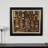 "Schiele: ""Waldandacht"", Digital Print, Image Dims. 26.68"" x 32"", Framed Dims. 35"" x 40"""