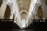 Interior of Bath Abbey, Bath, England, UK