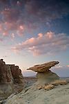 Dusk falls on the sandstone hoodoos near Ferry Swale on the Colorado Plateau