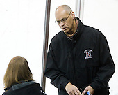 Peter Roby (NU - AD) - The Harvard University Crimson defeated the Northeastern University Huskies 4-3 (SO) in the opening round of the Beanpot on Tuesday, February 8, 2011, at Conte Forum in Chestnut Hill, Massachusetts.