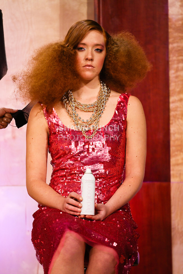 Image from the Ted Gibson Salon, Celebrity Red Carpet Hair presenation, during the International Beauty Show New York expo, March 7, 2011.