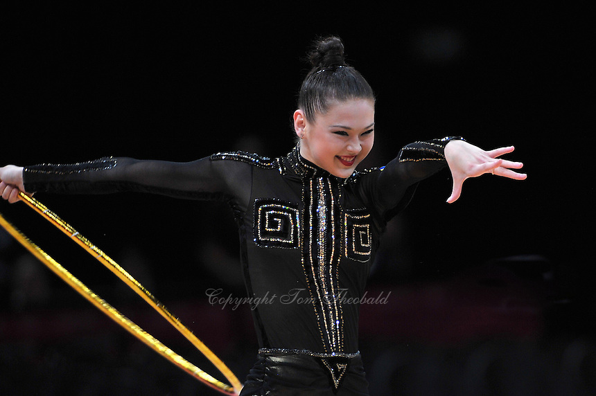 August 9, 2012; London, Great Britain; ALINA MAKSYMENKO of Ukraine performs with hope on day 1 of rhythmic gymnastics qualifications at 2012 London Olympics. .