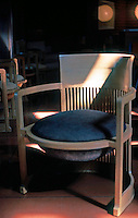 "F.L. Wright: Chair--""Wingspread"". Herbert F. Johnson Residence.  Photo '77."