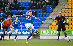 St Johnstone v Dundee United.....29.12.13   SPFL<br /> Stevie May scores from the penalty spot<br /> Picture by Graeme Hart.<br /> Copyright Perthshire Picture Agency<br /> Tel: 01738 623350  Mobile: 07990 594431