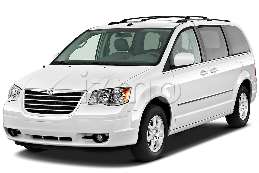 front three quarter view of a 2010 chrysler town and country touring. Cars Review. Best American Auto & Cars Review
