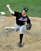 New York Mets pitcher R.A. Dickey (43) works in the bottom of the fourth inning against the Washington Nationals at Nationals Park in Washington, D.C. on Saturday, July 30, 2011.  The Nationals won the game 3 - 0..Credit: Ron Sachs / CNP.(RESTRICTION: NO New York or New Jersey Newspapers or newspapers within a 75 mile radius of New York City)