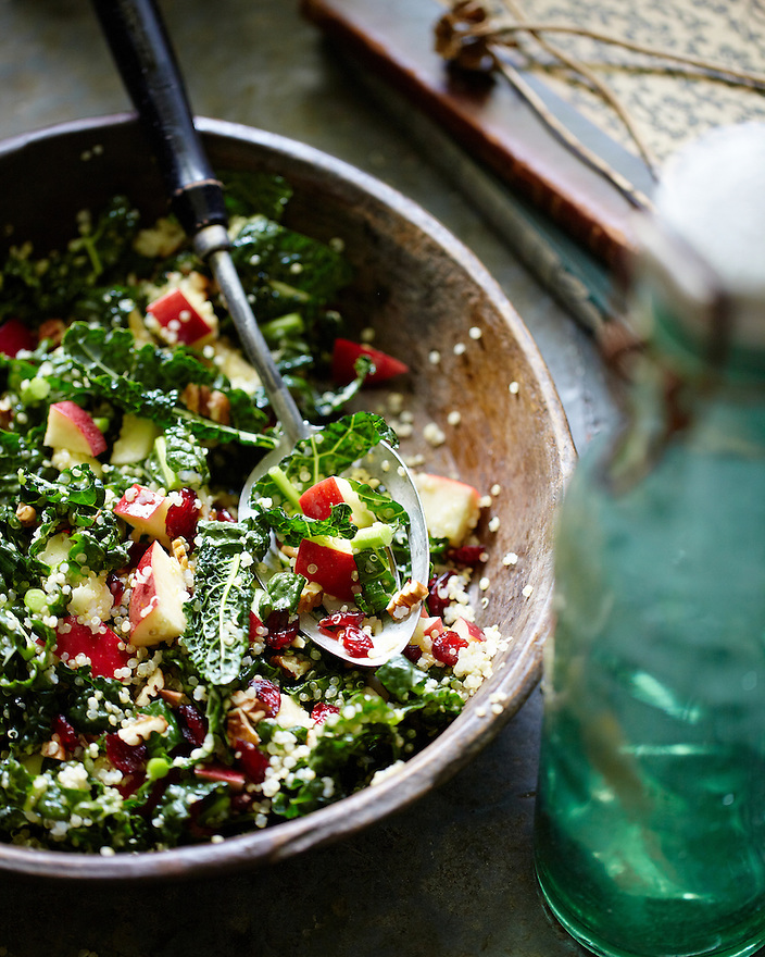 Kale, Apple Quinoa Salad.  The Fresh Market Cookbook