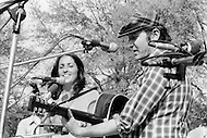May 11th 1975, Manhattan, New York.<br /> Joan Baez and Phil Ochs,  appeared at The War Is Over concert in New York's Central Park in front of a crowd of more than 100.000 people.