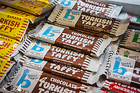 Bonomo brand Turkish Taffy candy is seen in a candy store in New York on Thursday, October 16, 2014. (© Richard B. Levine)