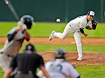 2 July 2011: Vermont Lake Monsters pitcher Kurt Wunderlich on the mound against the Tri-City ValleyCats at Centennial Field in Burlington, Vermont. The Lake Monsters rallied from a 4-2 deficit to defeat the ValletCats 7-4 in NY Penn League action. Mandatory Credit: Ed Wolfstein Photo