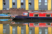 Pirate Viscount, Camden Town, Regent's Canal, London, UK. The canal boat is available for use by community groups and schools as well as for private hire. Picture by Manuel Cohen