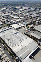 Aerial view of factory roofs in industrial district, Melbourne, Victoria, Australia<br /> <br /> Larger JPEG + TIFF images available by contacting use through our contact page at :..www.photography4business.com