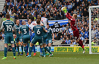 Wigan Athletic's Jakob Haugaard (R) in action  <br /> <br /> Brighton 2 - 1 Wigan<br /> <br /> Photographer David Horton/CameraSport<br /> <br /> The EFL Sky Bet Championship - Brighton &amp; Hove Albion v Wigan Athletic - Monday 17th April 2017 - American Express Community Stadium - Brighton<br /> <br /> World Copyright &copy; 2017 CameraSport. All rights reserved. 43 Linden Ave. Countesthorpe. Leicester. England. LE8 5PG - Tel: +44 (0) 116 277 4147 - admin@camerasport.com - www.camerasport.com