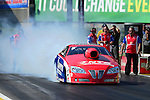 May 18, 2012; Topeka, KS, USA: NHRA pro stock driver Shane Gray during qualifying for the Summer Nationals at Heartland Park Topeka. Mandatory Credit: Mark J. Rebilas-