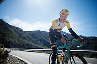 Sep Vanmarcke (BEL/LottoJumbo) uphill climb<br /> <br /> Team Lotto Jumbo winter training camp<br /> Moj&aacute;car, Spain, January 2015