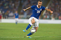 Argentina beats Italy 2-1 during the international friendly between Italy vs Argentina at Stadio Olimpico, in Rome, on August 14, 2013 in Rome. In the photo: Pablo Osvaldo Italy. Photo: Adamo Di Loreto/BuenaVista*photo