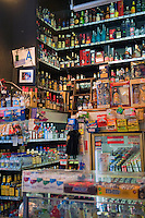 Grand Central, Public Market, Liquor, Display, Shelves, Los Angeles CA,