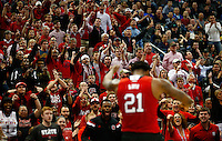 PITTSBURGH, PA - MARCH 21: The crowd reacts to a shot by Beejay Anya #21 of the North Carolina State Wolfpack in the first half against the Villanova Wildcats during the third round of the 2015 NCAA Men's Basketball Tournament at Consol Energy Center on March 21, 2015 in Pittsburgh, Pennsylvania.  (Photo by Jared Wickerham/Getty Images)