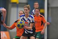 KORFBAL: HEERENVEEN: Blauw-Withal, 23-11-2013, Overgangsklasse A, KV Heerenveen - SDO/VerzuimVitaal, Eindstand 15-26, Rianne Rijpkema (Heerenveen), ©foto Martin de Jong
