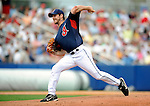 11 March 2008: Cleveland Indians' pitcher Cliff Lee on the mound during a Spring Training game against the Detroit Tigers at Chain of Lakes Park, in Winter Haven Florida. The Tigers rallied to defeat the Indians 4-2 in the Grapefruit League matchup...Mandatory Photo Credit: Ed Wolfstein Photo