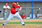 12 March 2012: Washington Nationals outfielder Eury Perez squares to bunt during a Spring Training game against the St. Louis Cardinals at Space Coast Stadium in Viera, Florida. The Nationals defeated the Cardinals 8-4 in Grapefruit League play. Mandatory Credit: Ed Wolfstein Photo