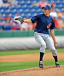 14 March 2008: Cleveland Indians' pitcher Jeremy Sowers on the mound during a Spring Training game against the Washington Nationals at Space Coast Stadium, in Viera, Florida. The Nationals defeated the visiting Indians 8-4 as both teams fielded split squads home and away...Mandatory Photo Credit: Ed Wolfstein Photo