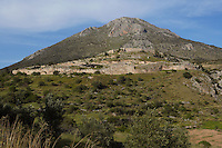 MYCENAE, GREECE - APRIL 13 : A general view of Mycenae on April 13, 2007 in the Peloppenese, Greece. Mycenae, a hill top citadel and palace complex, was the most important place in Greece from c. 1600 to c. 1100 BC. The site was first completely excavated by German archaeologist Heinrich Schliemann between 1874 and 1878. (Photo by Manuel Cohen)