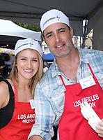 LOS ANGELES, CA - April 14: Shatel VanSanten, Victor H. Webster, At Los Angeles Mission's Easter Celebration For The Homeless At Los Angeles Mission  In California on April 14, 2017. <br /> CAP/MPI/FS<br /> &copy;FS/MPI/Capital Pictures